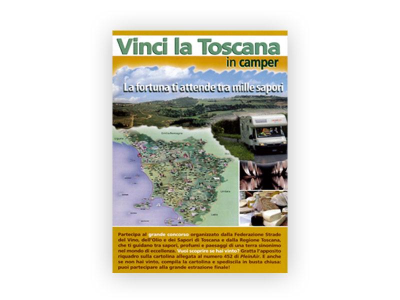 Volantino pubblicitario evento Vinci la Toscana   Caravanbacci.com