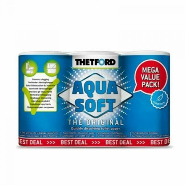 carta igienica disgregante thetford aqua soft caravanbacci
