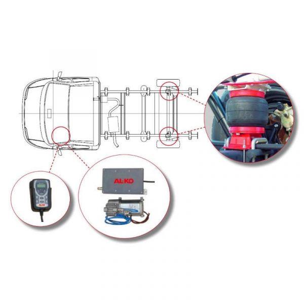 gestione elettronica sospensioni dynamic air top caravanbacci