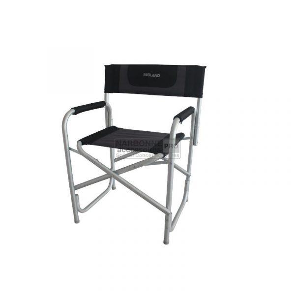 sedia regista alluminio grigio nera caravanbacci