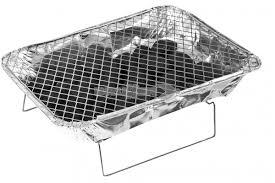 Barbecue monouso portatile con vaschetta carbonella e griglia - Barbecue portatile a carbonella ...