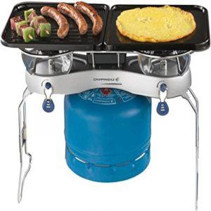fornello doppio+ grill camping duo caravanbacci