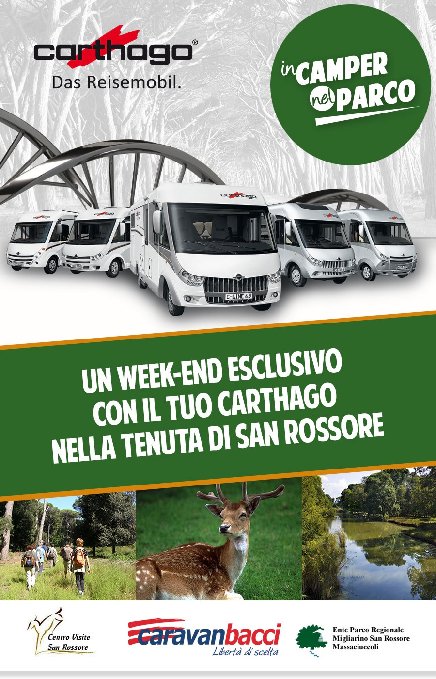 carthago weekend nel parco di san rossore