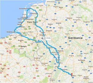 mappa viaggio camper olanda