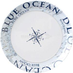 piatto piano melammina blue ocean caravanbacci
