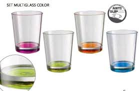set bicchieri multiglass color brunner