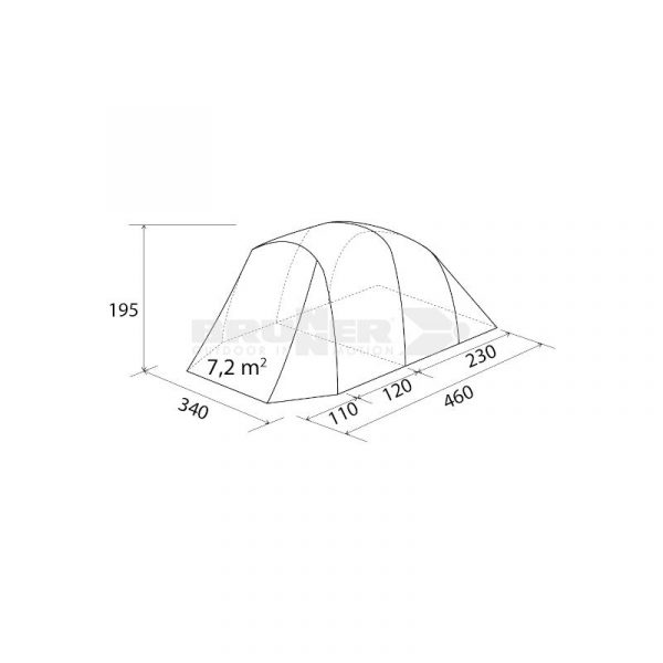 tenda campeggio familiare duke outdoor caravanbacci