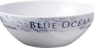 Insalatiera melamina bleu ocean |Caravanbacci.com