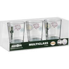 Set tre bicchieri in vetro da campeggio - Caravanbacci.com