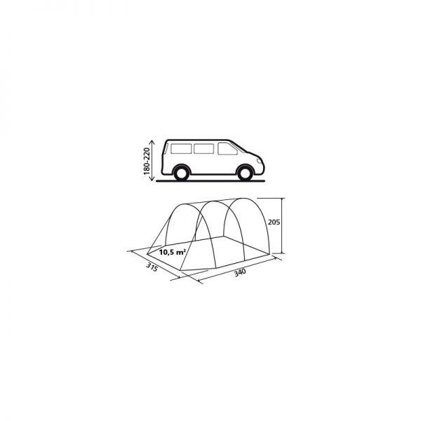 tenda veranda indipendente drifter Brunner pianta