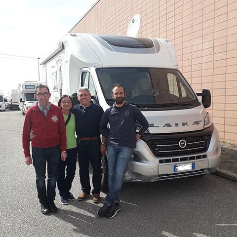 Consegna del camper Laika Ecovip 309 Silver Edition al famiglia Bracci