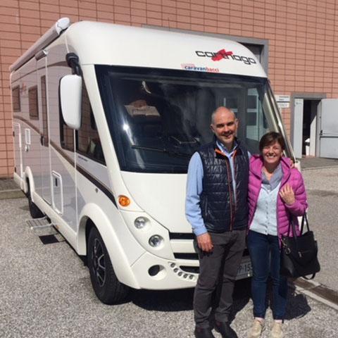 Consegna del camper Carthago Compact 143 alla famiglia Davì