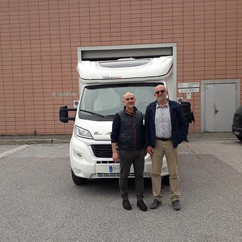 Consegna del camper Laika Ecovip 112 al Sig. Federighi