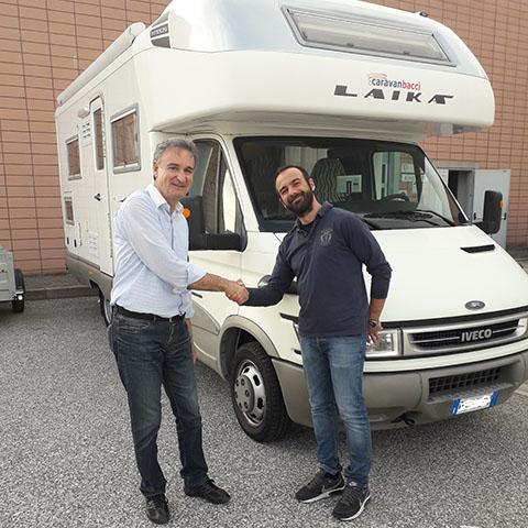 Consegna del camper Laika Kreos 3005 al Sig. Filippelli