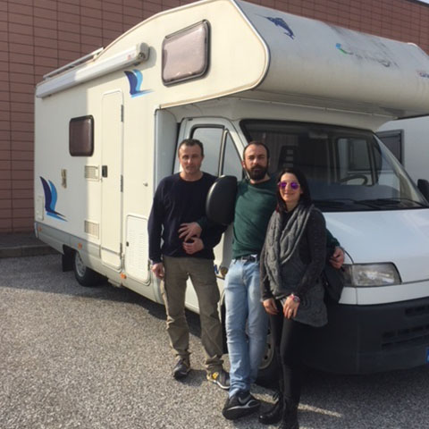 Consegna del camper Elnagh Marlin 64 alla Famiglia Nicolini