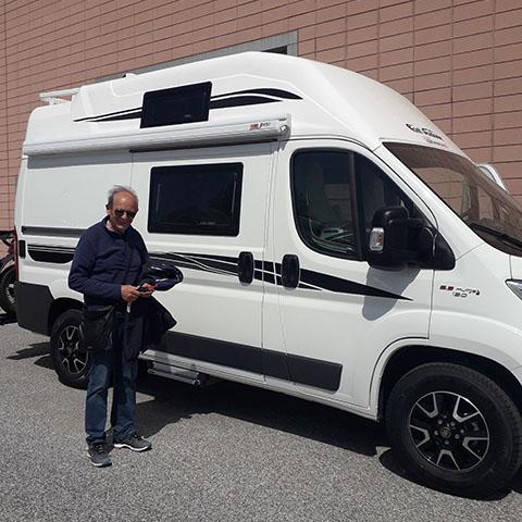 Consegna del camper Font Vendome H 100 al Sig. Puccetti