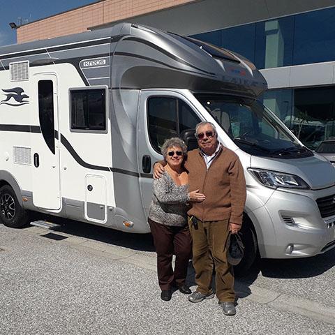 Consegna del camper Laika Kreos 3008 alla famiglia Spagnoli