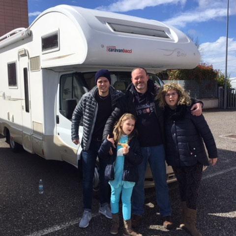 Consegna del camper Kentucky Estro 4 alla Famiglia Turrini