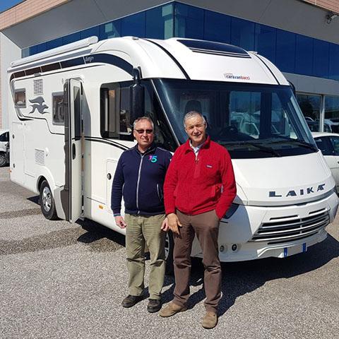 Consegna del camper Laika Ecovip 610 al Sig. Vincenzi