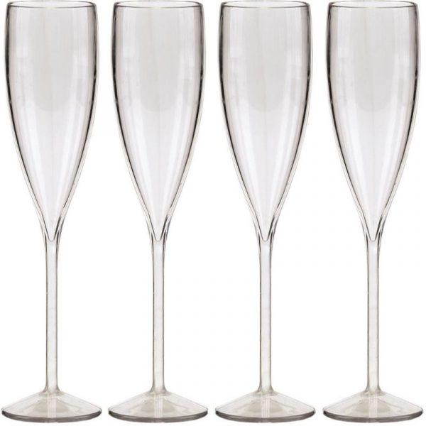 Set 4 Flute Champagne viamondo caravanbacci