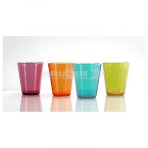 set 4 bicchieri colorati oxigen caravanbacci