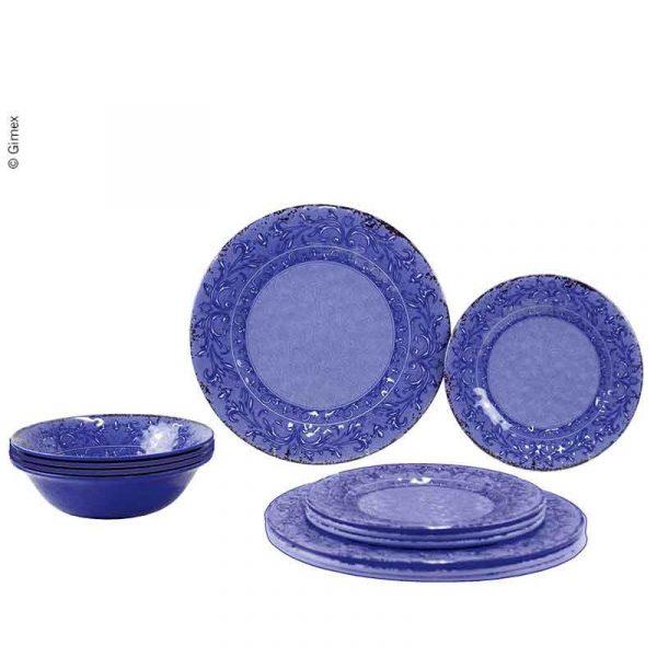 set piatti in melammina Azure caravanbacci