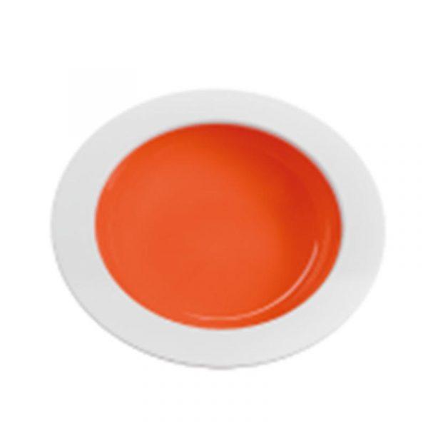 piatto fondo melammina arancio caravanbacci
