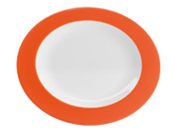 piatto piano melammina arancio caravanbacci
