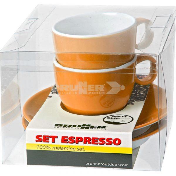 set espresso melammina arancio spectrum caravanbacci