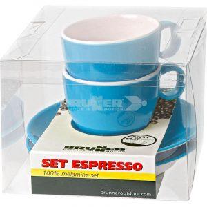 set espresso melammina azzurro spectrum caravanbacci