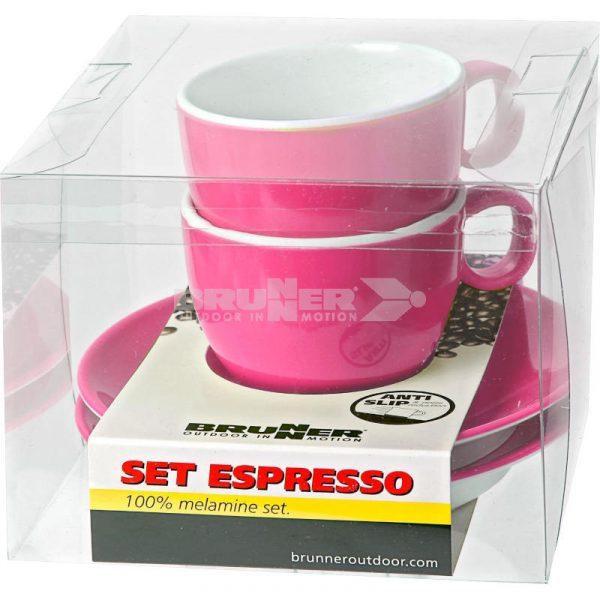 Set Espresso Melammina Rosa Spectrum - Caravanbacci
