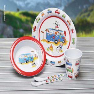 set piatti melammina bambini harry&amp&friends caravanbacci