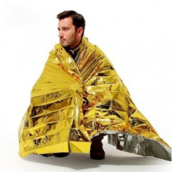 copertina termica dorata sos caravanbacci
