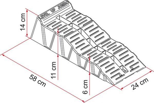cunei livellatori kit Level Up Jumbo misure caravanbacci