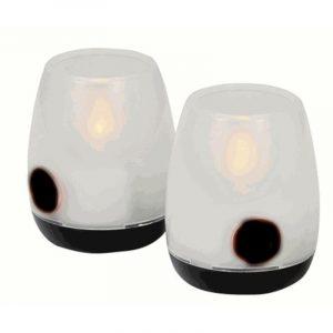 set 2 lampade led candela caravanbacci