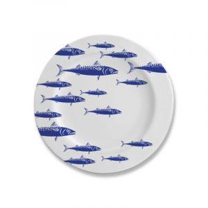 piatto piano blue fish caravanbacci