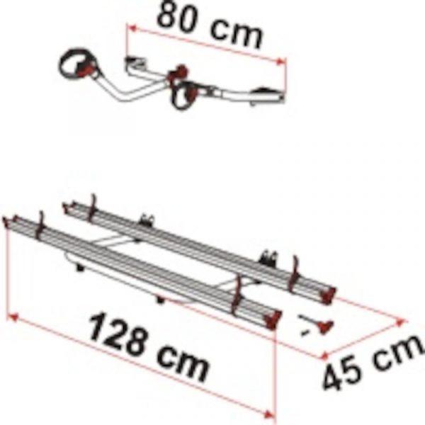 Portabici Fiamma Garage Standard Misure - Caravanbacci