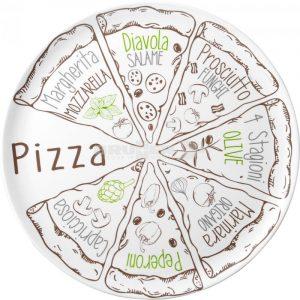 set due piatti per pizza melammina caravanbacci