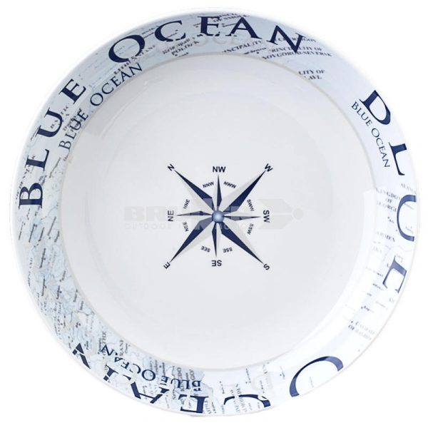piatto fondo melammina blue ocean caravanbacci