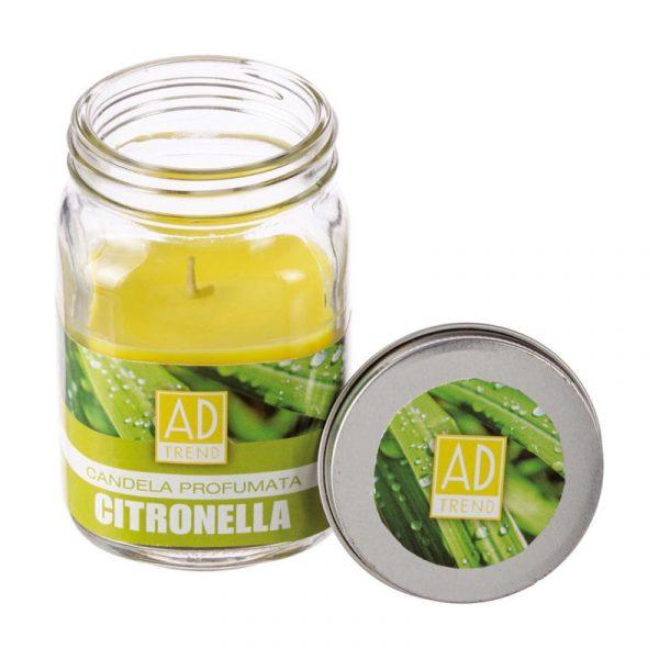 candela citronella barattolo vetro caravanbacci