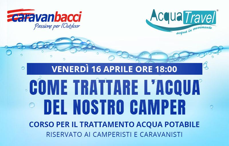 Corso trattamento acqua Caravanbacci
