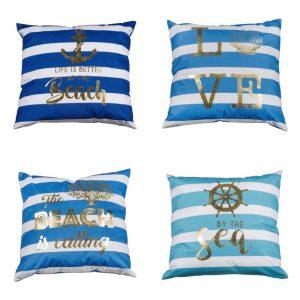 cuscini decorativi mare righe blu caravanbacci