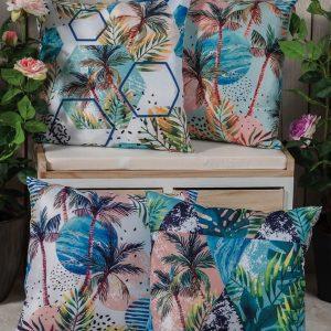 cuscini decorativi palme caravanbacci