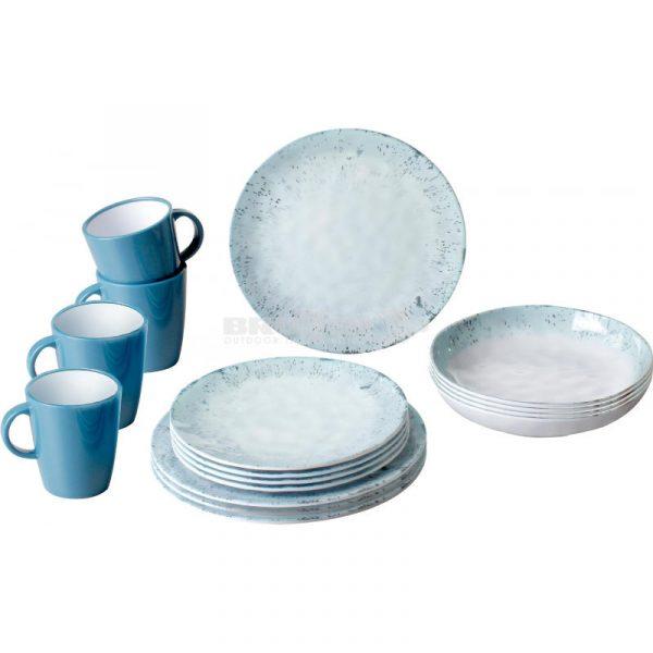 servizio 16 pezzi melammina porcellanata amalfi caravanbacci