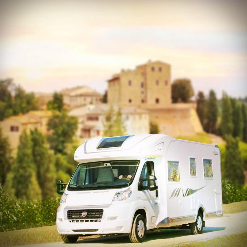 Castelfalfi in Camper