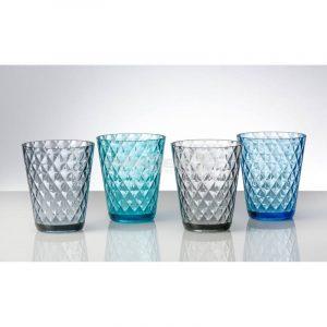 set 4 bicchieri diamond in policarbonato caravanbacci