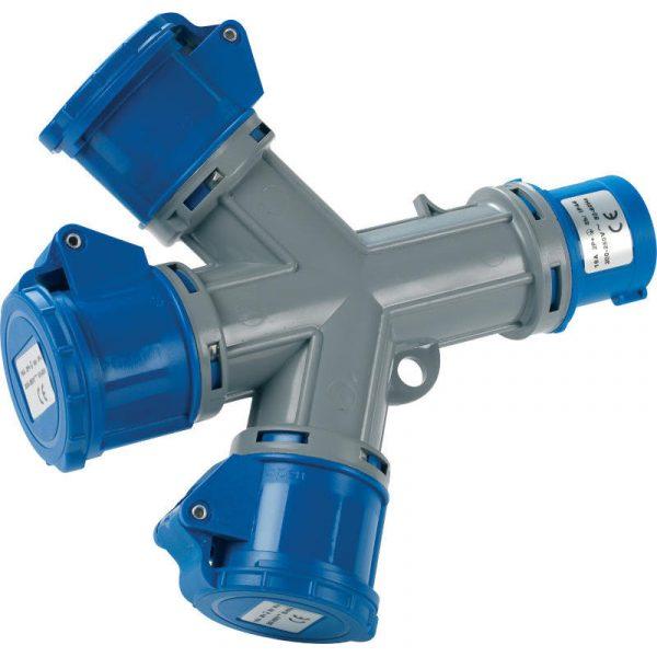 adattatore spina blu a 3 prese blu RS1026 caravanbacci