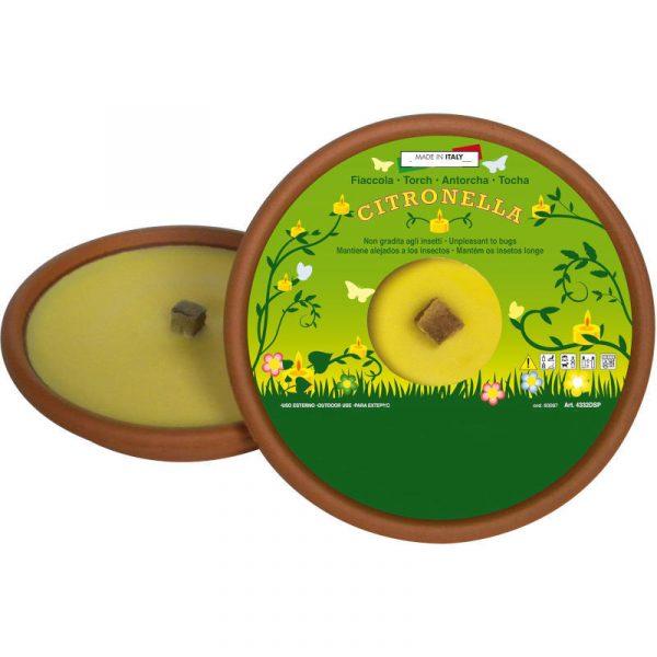 citronella in ciotola terracotta diam. 15,5 caravanbacci