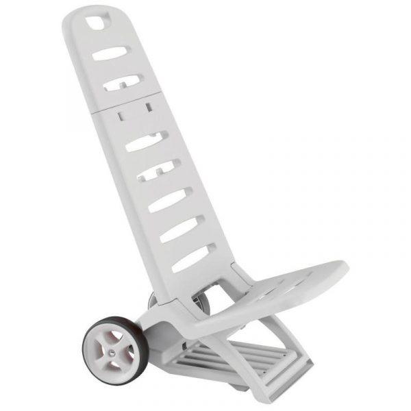 spiaggina trolley in plastica bianca caravanbacci