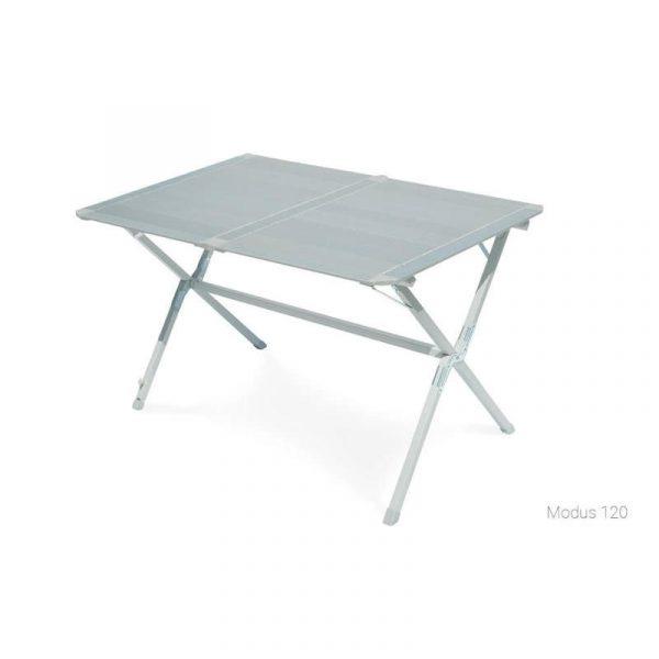 tavolo arrotolabile in alluminio e acciaio Modus 120 caravanbacci